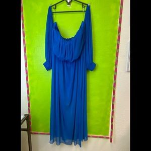 NWOT GORGEOUS CHIFFON OFF THE SHOULDER DRESS IN 3X